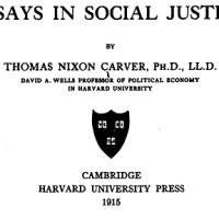 Carver, Essays in Social Justice (1915)