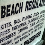 Photo of a sign of beach regulations