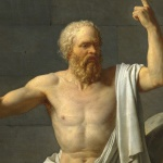 From the painting The Death of Socrates by Jacques Louis David