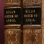 Photo of first edition of System of Logic