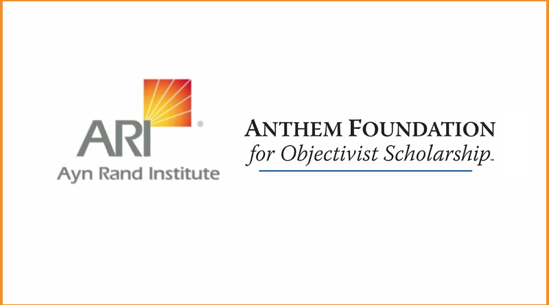 Logos of the Ayn Rand Institute and the Anthem Foundation for Objectivist Scholarship