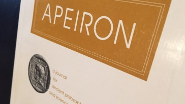Cover of the journal Apeiron