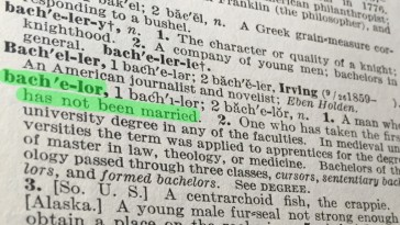 Dictionary definition of bachelor