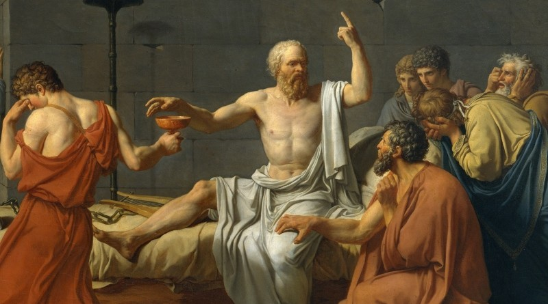 Detail from the painting The Death of Socrates by Jacques Louis David