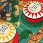 Closeup photo of pinball game