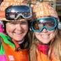 Photo of skiers smiling