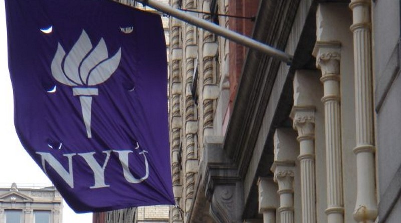 Photo of New York University's flag