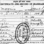 A New York Marriage Certificate from 1920