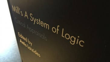 Photo of book cover, Mill's A System of Logic