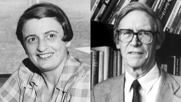Photo of Ayn Rand and John Rawls