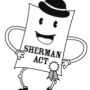 Cartoon of Sherman Antitrust Act