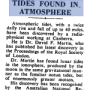 Newspaper headline: Tides found in atmosphere