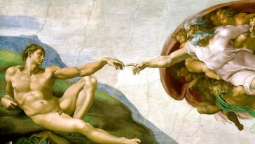 Section of Michelangelo's Sistine Chapel